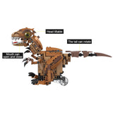 MoFun Electronic Dinosaur RC Smart Robot Mecanum Wheels Obstacle Avoidance Toy Gift