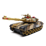 BB638 Plastic 2.4G 10CH RC Tank With Light Sound RC Car Toys