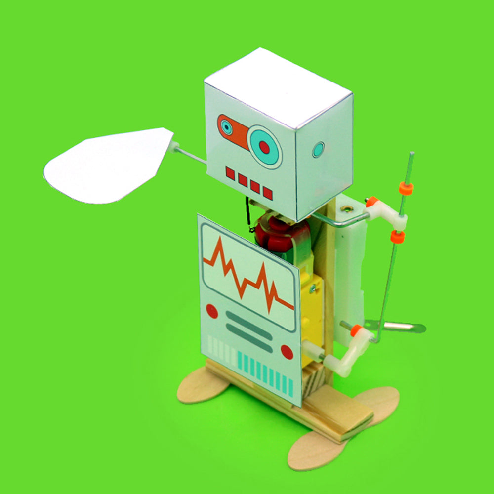 DIY Electric Fans Robot DIY Educational Robot Toy Assembled Toy For Kids Children