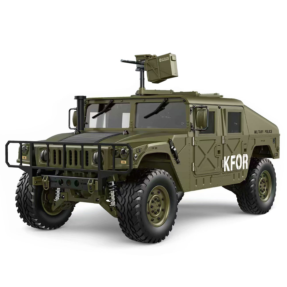 HG P408 1/10 2.4G 4WD 16CH 30km/h Rc Model Car U.S.4X4 Military Vehicle Truck without Battery Charger