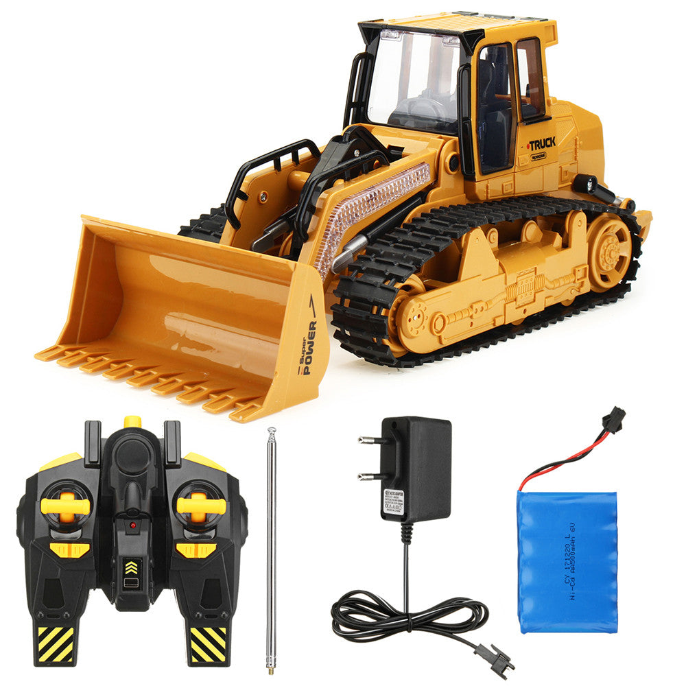 Xieming XM-6822L 1/12 2.4G 5CH Rc Car Truck Bulldozer Caterpillar Excavating Track Simulation Model Toys