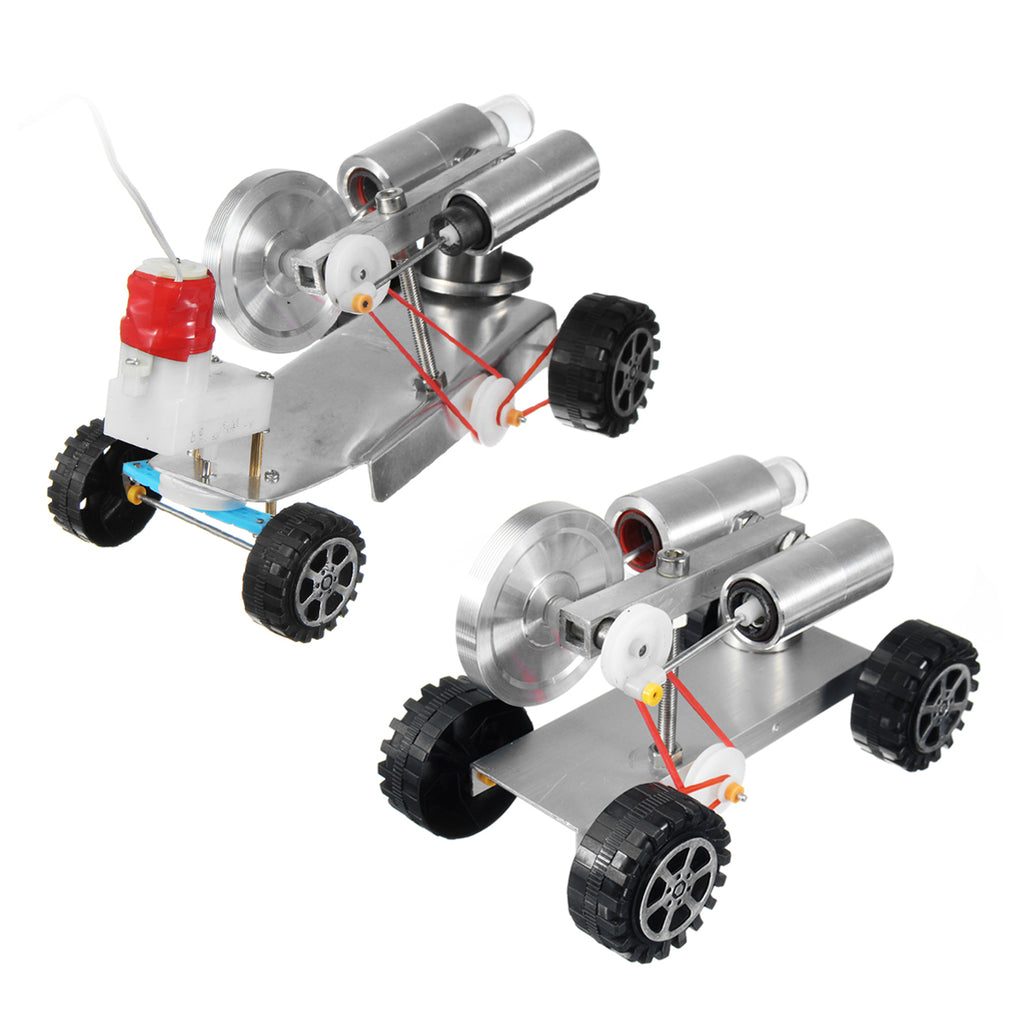 DIY 170*85*100mm Mini Engine Car Robot Kit With/Without Remote Control