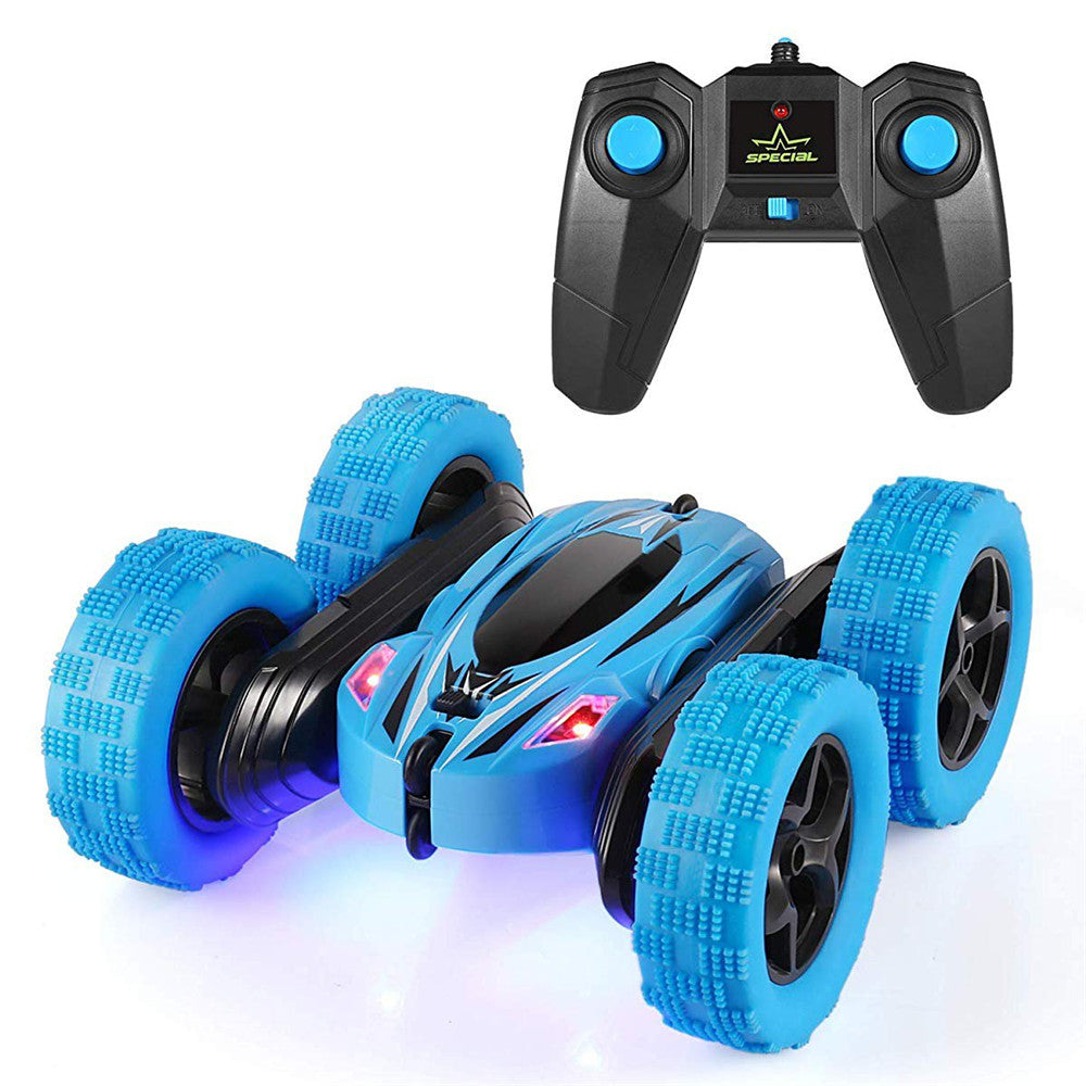 JJRC D828 1/24 2.4G 4WD Double-Sided Stunt Rc Car 360° Rotation W/ LED Light Toy
