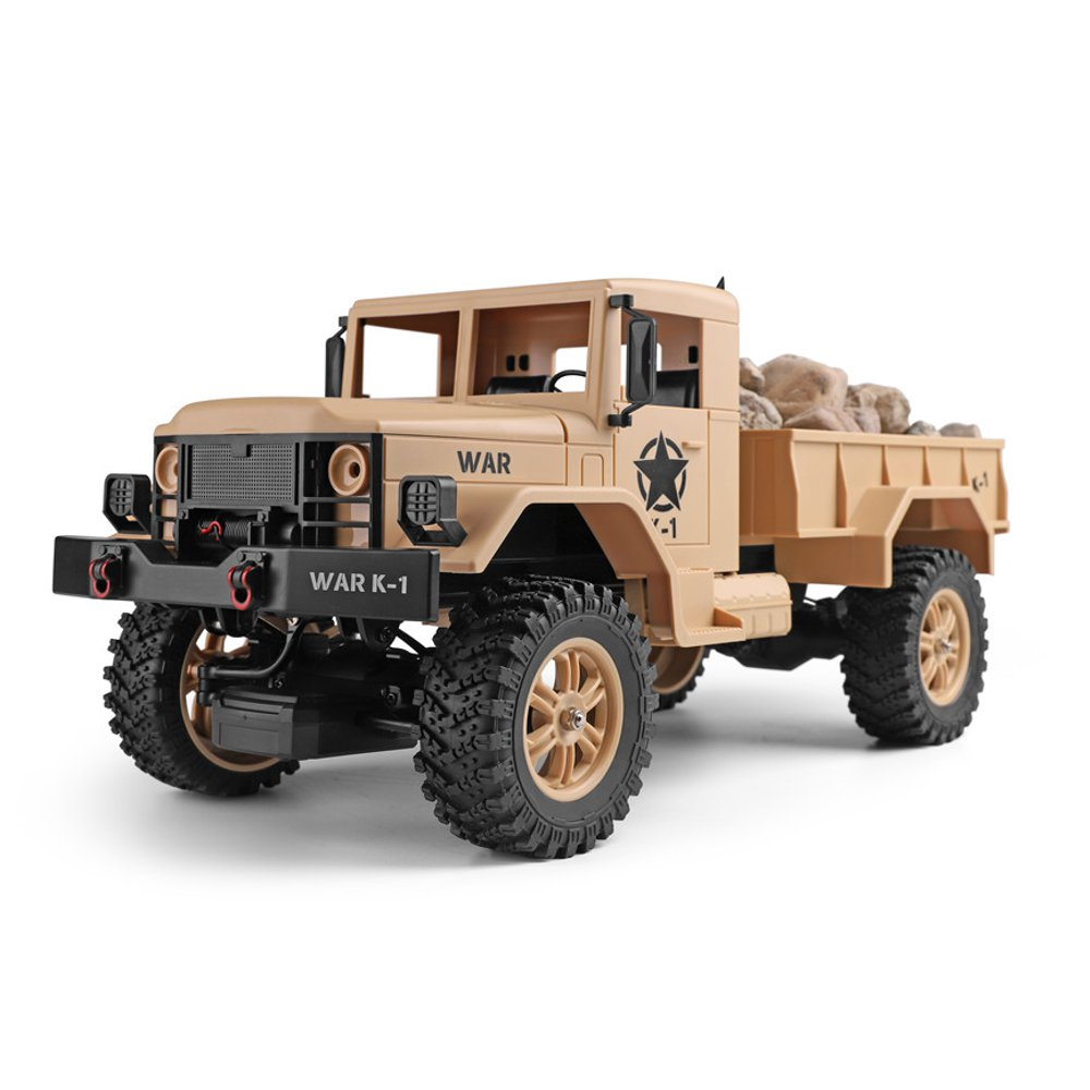 Wltoys 124301 1/12 2.4G 4WD 45cm 390 Bruhed Rc Car 1.2kg Load Off-road Military Truck RTR Toy