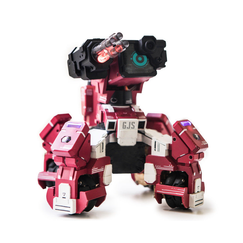 GJS Geio Smart Battle Armored AI Robot App Control Vision Recogonition Toys  (Red)