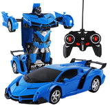 Deformation Car Electric Remote Control 1:18 Button Remote Control Deformable Vehicle Remote Control Car RC robot