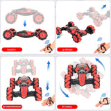 Remote Control Stunt Car Gesture Induction Twisting Off-Road Vehicle Light Music Drift Dancing Side Driving Toy Gift for Kids