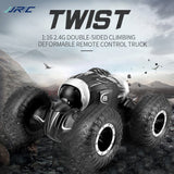 JJRC Q70 Twist 2.4Ghz 1/16 4WD RC Car RC Stunt Car Climbing Car Double-Sided Deformable All-Terrain Stunt Car Kids RC Toy