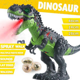 Kids Walking Electric Dinosaur Toys with Music Light Spray Walk Sounds Animals Model Toys for Children Birthday Christmas Gift