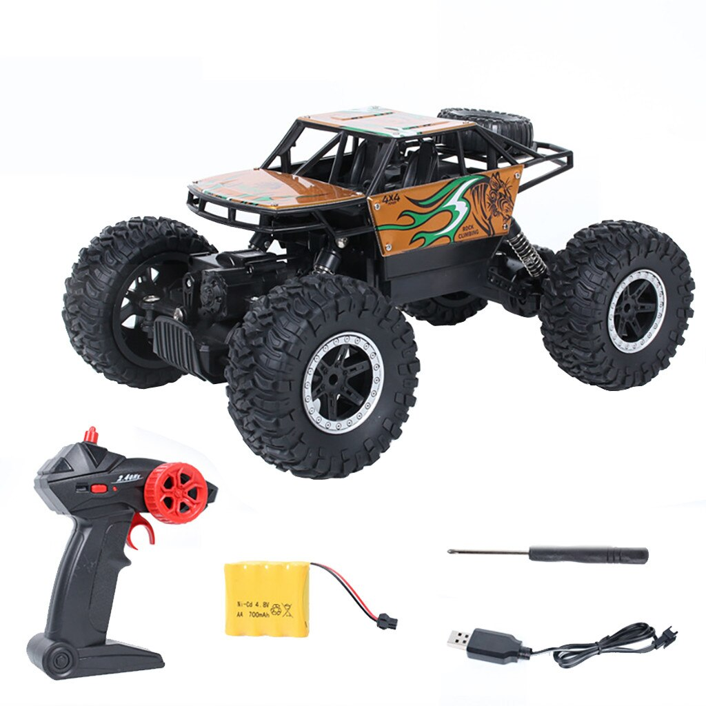 4WD Electric RC Car Rock Crawler Remote Control Toy Cars On The Radio Controlled 4x4 Drive Off-Road Toys For Boys Kids Gift 2019