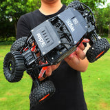 alloy 2.4G rc car 1/16 10km/h Off-Road Drive Bigfoot cars electric four-wheel climbing Double Motors Vehicle toys car for gift