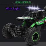 1/12 RC Double Motors Drive Bigfoot Car Off-Road Vehicle With Light 4WD Rock Crawlers 4x4 Driving Car  2.4Ghz Electric Toys