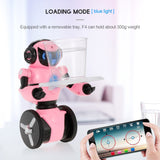 Wltoys RC Robot F4 0.3MP Camera Wifi FPV APP Control Intelligent G-sensor Smart Robot Super Carrier RC Toy Gift for Children