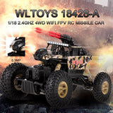1:18 4WD Electric Climbing Monster RC Car 2.4Ghz Big Wheel Crawler Remote Control Off-Road Rock SUV Racing Toy Missile Play Game