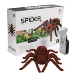 Kid Gift Remote Control Scary Creepy Soft Plush Spider Infrared RC Tarantula Toy 95AE