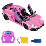 Remote Control Car One Button to Open the Door Automatically Demonstrate - the 1:12 Remote Control Sports Car