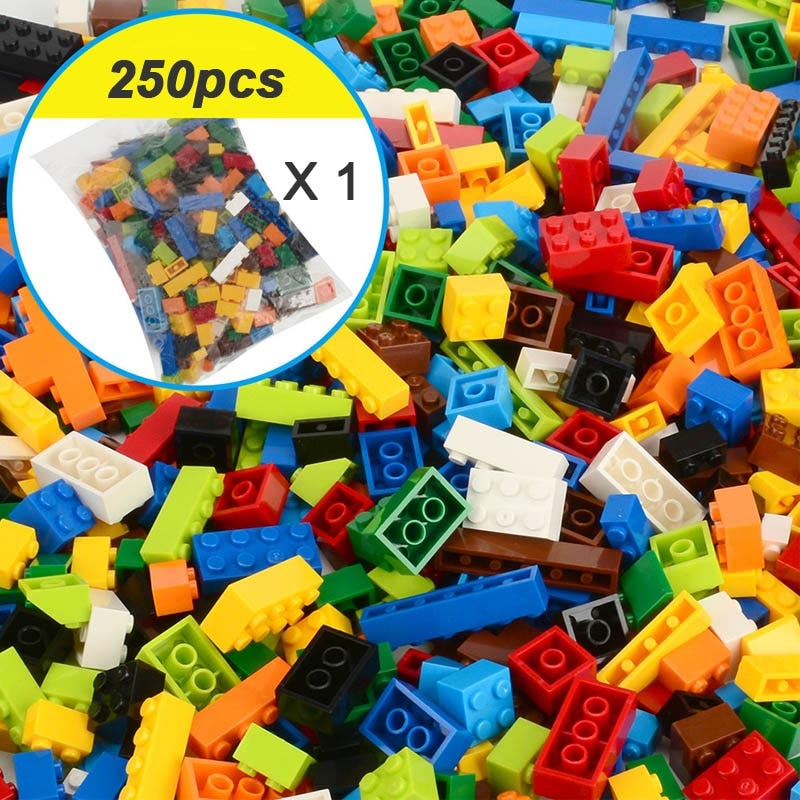 250-1000 Pieces Legoes Building Blocks City DIY Creative Bricks Bulk Model Figures Educational Kids Toys Compatible All Brands