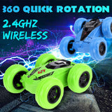 2.4G RC Car Big tire Cool tumbling 360 degree Stunt Drift Deformation Buggy Car Rock Crawler Roll Car With LED Glowing