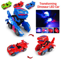 Hot Sale Deformation Electronic Tyrannosaurus Dinosaur Toy Car Universal Wheel Change Robot Car With Light Sound Children Gift
