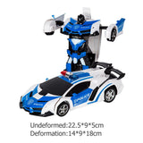 2.4G RC Electric Remote Control Robot Car Plastics and Electronic Components  Transformation Battery Kids Gifts Toy