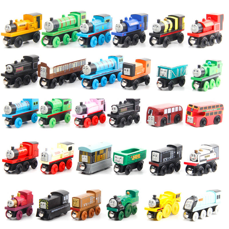 Kids wooden thomas train toys wooden magnetic mini thomas wooden train set toy