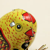 Wind Up Chick Tin Toy Clockwork Spring Pecking Chick Vintage Style
