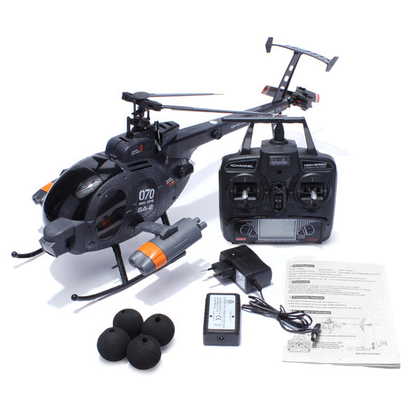 FX070C 2.4G 4CH 6-Axis Gyro Flybarless MD500 Scale RC Helicopter