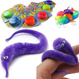 Magic Twisty Fuzzy Worm Wiggle Moving Sea Horse Kids Trick Toy