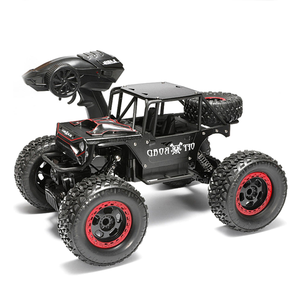 1/14 4WD 2.4G RC Cars Alloy Speed RC Car Toys With LED Head Light 3 Motors
