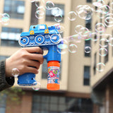 Light Up Flashing LED Bubble Blower Machine Kids Outdoor Garden Toy Gift