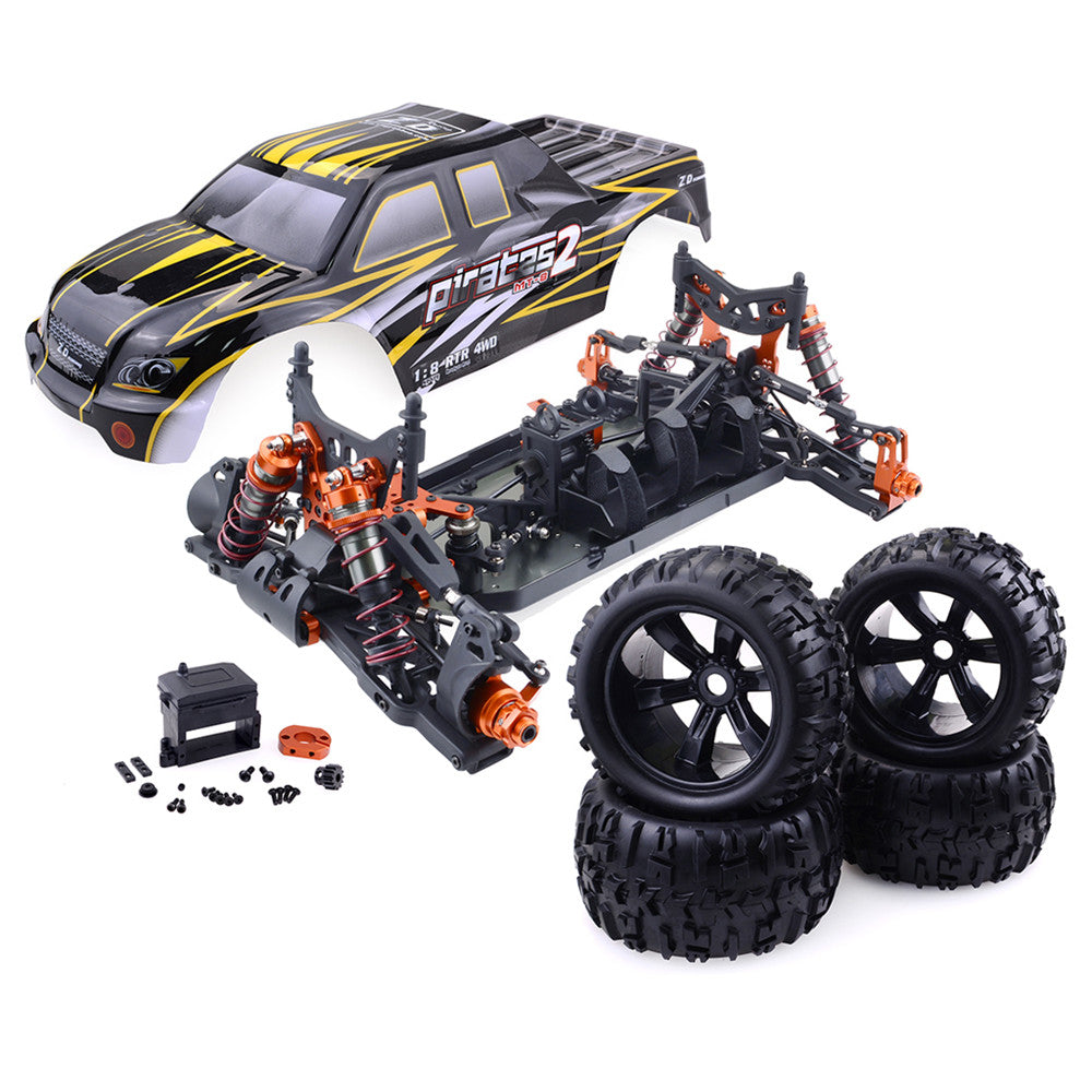 ZD Racing 9116 1/8 4WD Brushless Electric Truck Metal Frame 100km/h RC Car Without Electric Parts