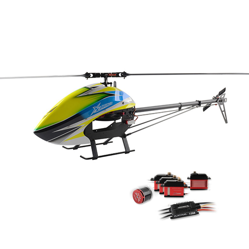 XLPower 520 XL520 FBL 6CH 3D Flying RC Helicopter Super Combo With 1100KV Motor 120A V4 ESC KST Digital Servos