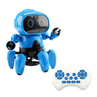 Upgraded MoFun 6-Legged 6CH Programmable Gesture Following Avoidance Sing Dance RC Robot Toy