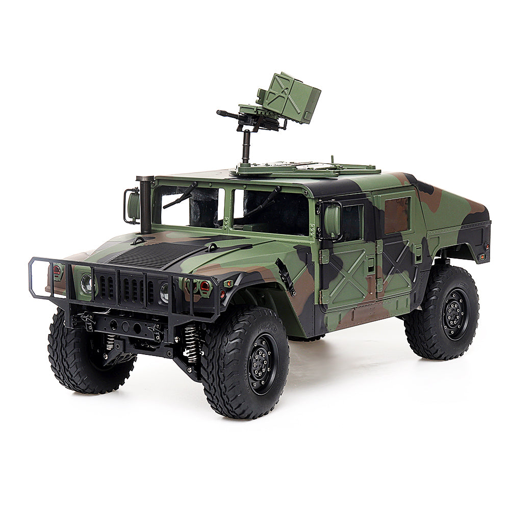 HG P408 1/10 2.4G 4WD 16CH 30km/h RC Car U.S.4X4 Military Vehicle Truck without Battery Charger