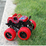 Classic Pull Back Big Foot Wheel Drive Car 9cm Rotatable Friction Power Shockproof Inertial Blocks Toys