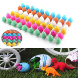 60PCS Magic Water Growing Hatching Dinosaur Eggs Kids Toys Christmas Children Gift