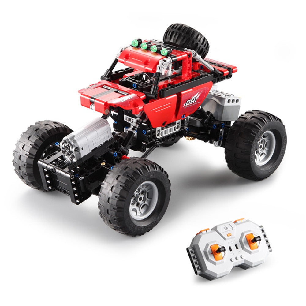 CaDA C51041W 489PCS 2.4G Assembling Building Block RC Car Off-Road Vehicle Model