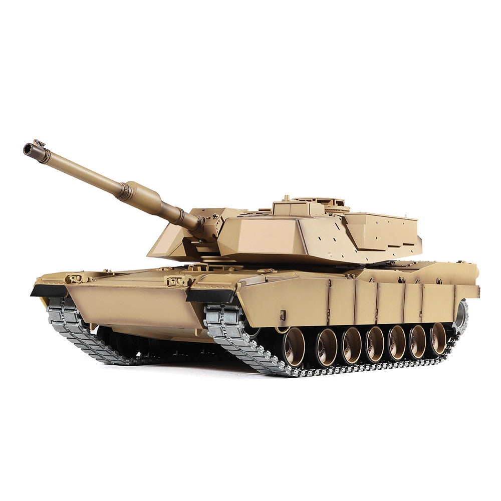 Heng Long 6.0 Version 3918-1 1/16 2.4G M1A2 Rc Car Battle Tank Metal Track with Sound Smoke Toy