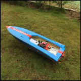 26I PE 2.4G 118cm FRP 15kg Servo 30C C Motor Waterproof Oil Electric Power RC Boat High Speed 85Km/h