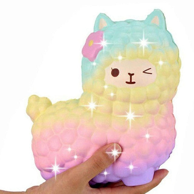 jumbo sheep alpaca squishy cute galaxy slow rising animal squishy squish wholesale exquisite kids gift