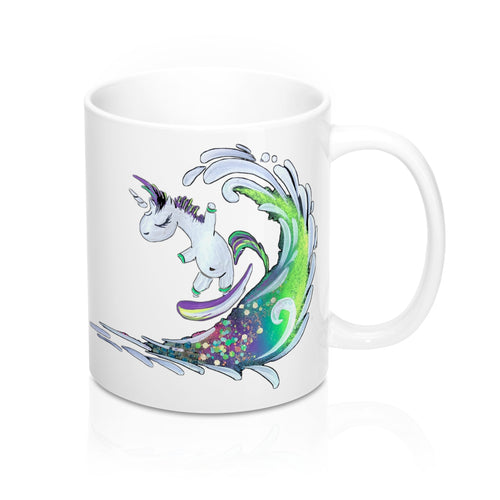 Surfing Unicorn Mug 11oz (330ml)