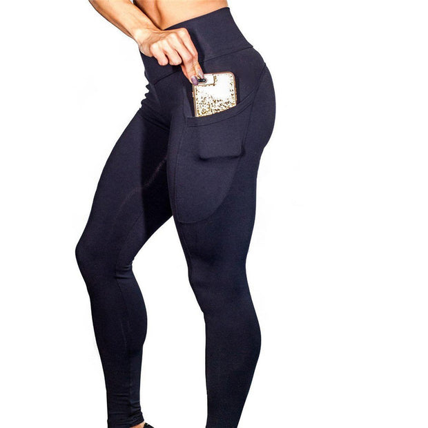 Sexy Push Up Black Leggings Women Fashion High Waist fitness Leggings - megawise