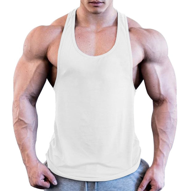 Gym Men Muscle Sleeveless Shirt Tank Top Bodybuilding - megawise