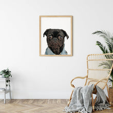 Load image into Gallery viewer, Custom Dog Art Portrait - Unframed Print