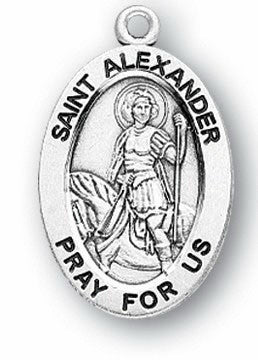 Sterling Silver Patron Saint Medals - Male Saints - Catholic Shoppe USA - 1
