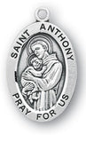Sterling Silver Patron Saint Medals - Male Saints - Catholic Shoppe USA - 3