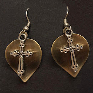 Antique Brass Earrings - Catholic Shoppe USA