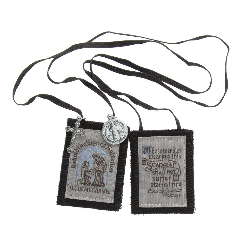 Brown Scapular - Brown Cord -