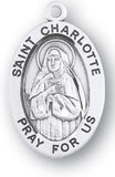 Sterling Silver Patron Saint Medals - Female Saints - Catholic Shoppe USA - 16