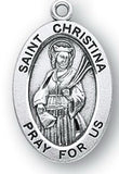 Sterling Silver Patron Saint Medals - Female Saints - Catholic Shoppe USA - 17
